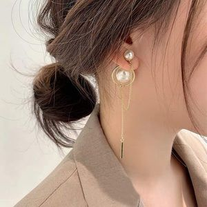 3/$25 Pearl and gold plated dangle earrings
